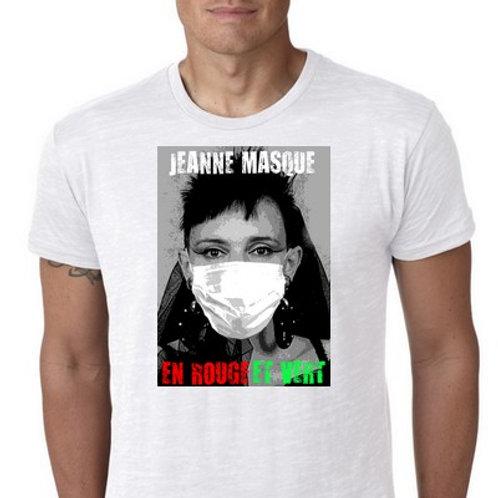 Jeanne Masque En rouge et vert le tee shirt