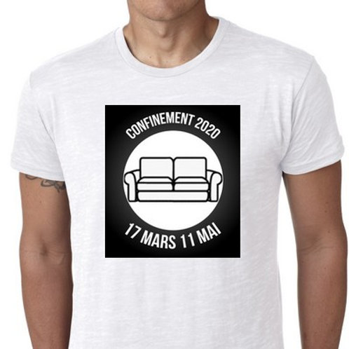 confinement 2020 j'y étais le tee shirt