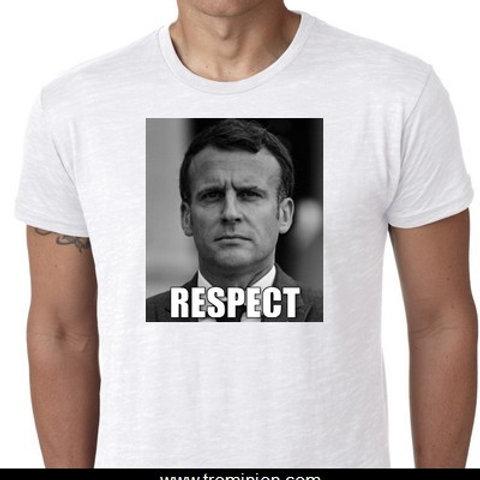 Macron tee shirt RESPECT  tain Drome Gifle