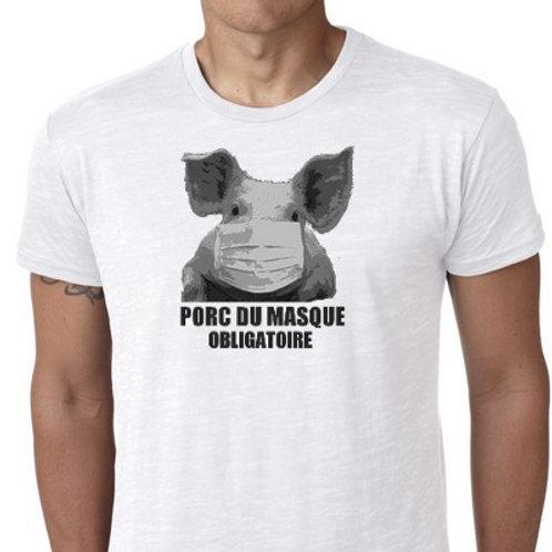 Porc du masque obligatoire tee shirt