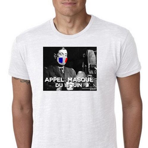 appel masqué du 18 Juin tee shirt