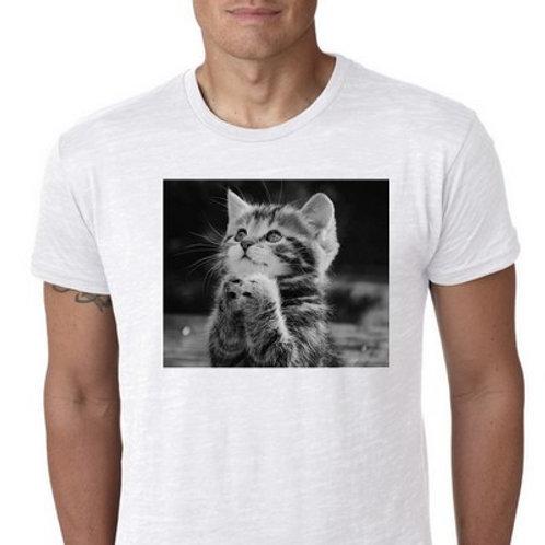 pray cat tee shirt