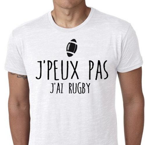 JE PEUX PAS J'AI RUGBY