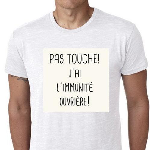 immunité ouvrière tee shirt