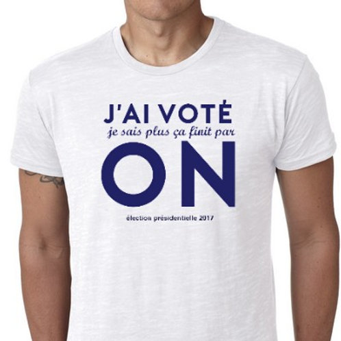 j'ai voté ON le tee shirt