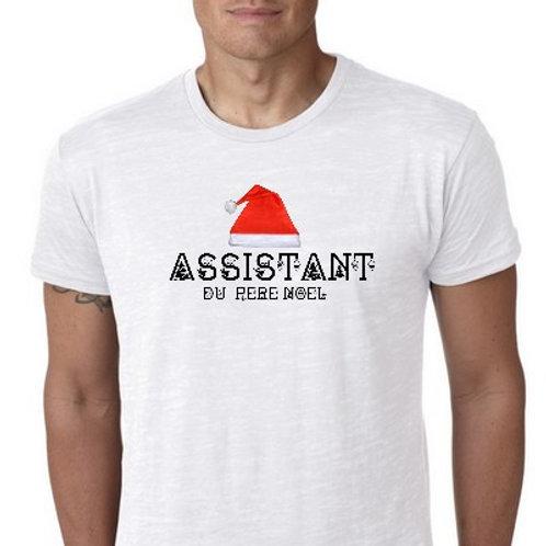 assistant du père noel tee shirt