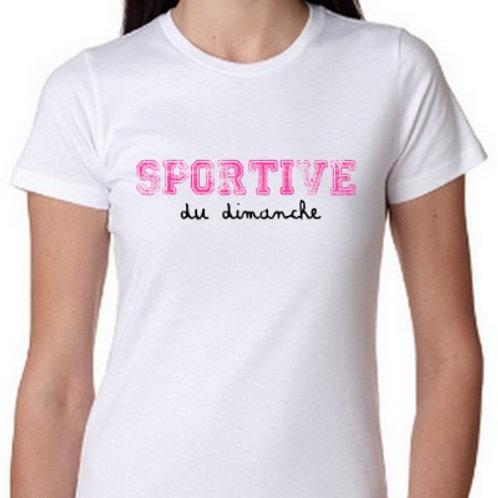 SPORTIVE ou SPORTIF du dimanche tee shirt