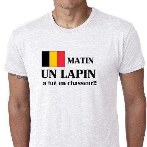 seum matin un lapin belge tee shirt