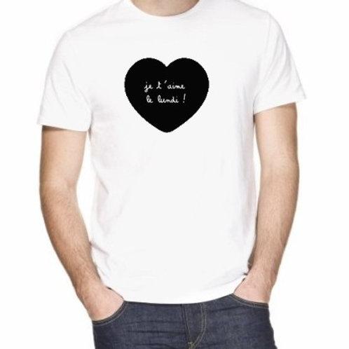 JE T 'AIME (les 7 tshirts de la semaine)