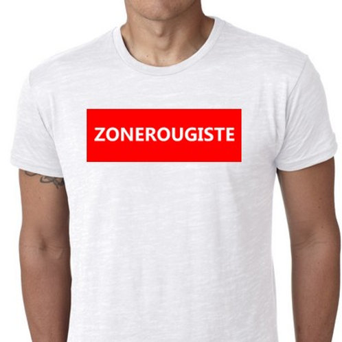 ZONEVERDISTE ou ZONEROUGISTE TSHIRT