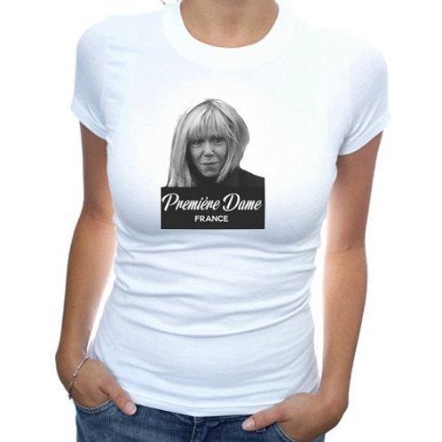 tee shirt brigitte macron premiere dame france