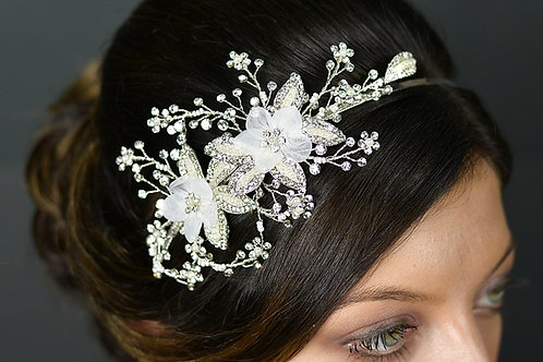 Side Design Bridal Tiara TLT4624