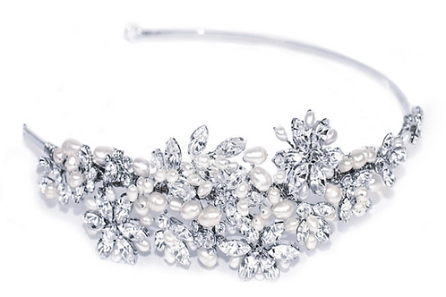 Side Band Bridal Tiara IVSD111