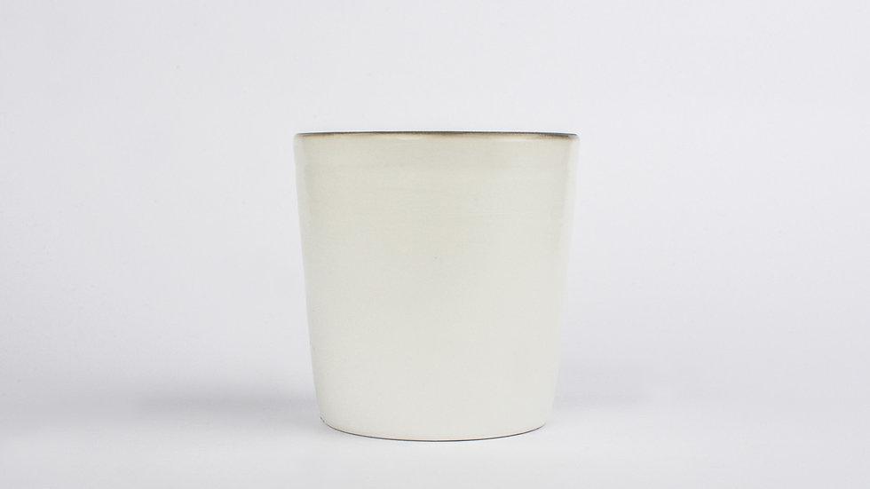 White Porcelain Taller Tea Cup