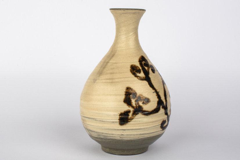 Buncheong Bottle With Iron Glaze