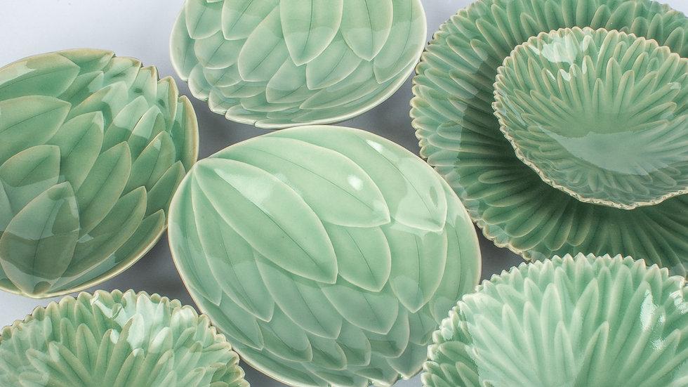 Leaf Decoration Plate Set