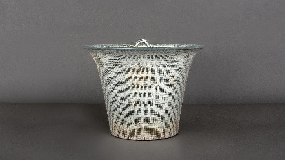 Buncheong Lidded Round Shape Jar