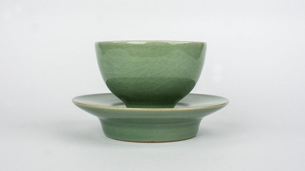Celadon Tea Cup and Saucer