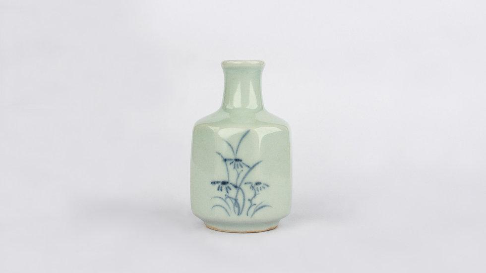 Blue White Flask