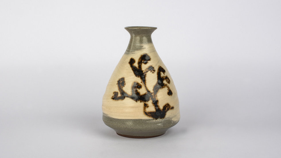 Buncheong Bottle With Iron Glaze