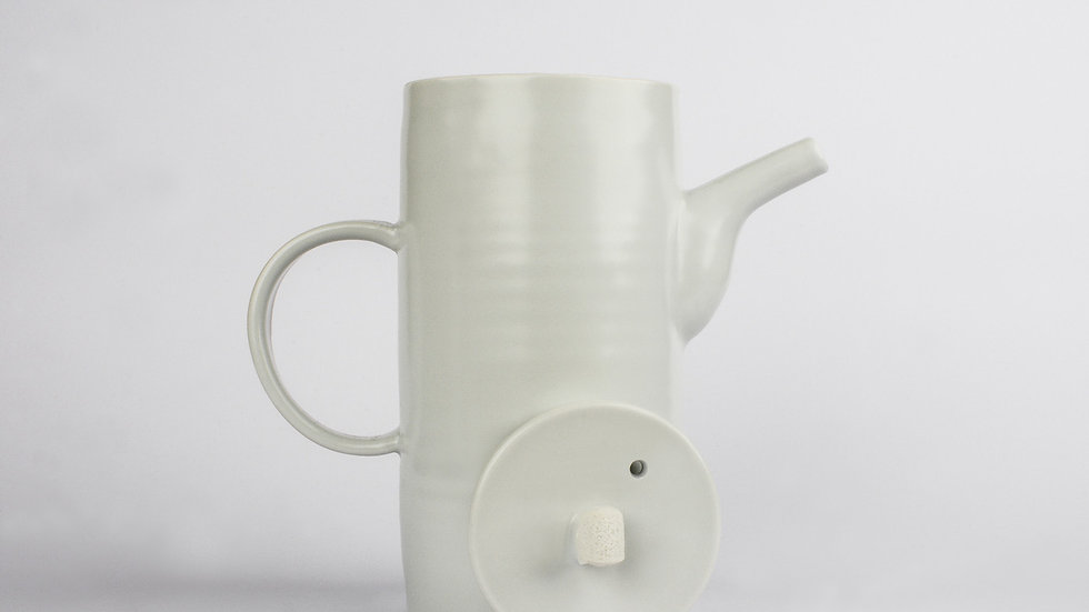 White Porcelain Taller Tea Pot