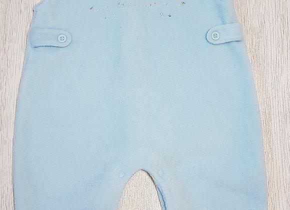 🏴BEAR ESSENTIALS. Light blue fleece dungarees. Button up back. Sleeveless. Age