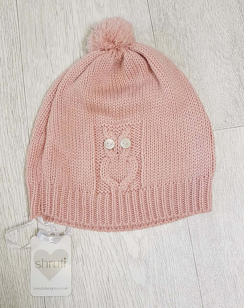 🏴SHRUTI. Pink knitted hat with pompom. New with tags.