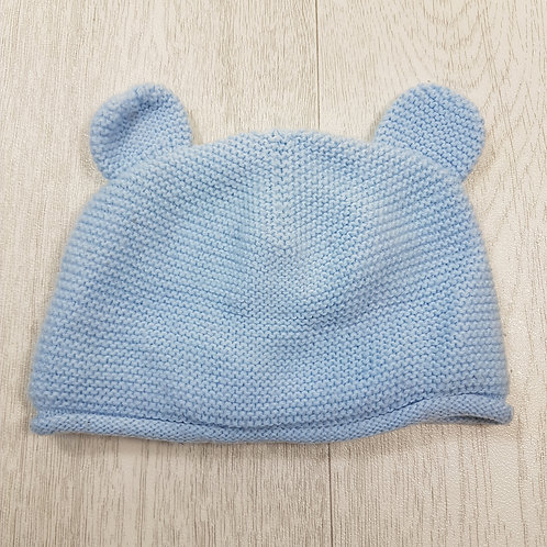 🏴GEORGE. Blue knitted hat with ears. Age 6-12 months.