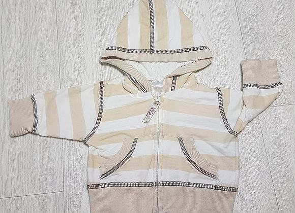 🏴BABY. Beige striped zip up jumper. Newborn.
