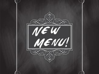 Nieuw menu!