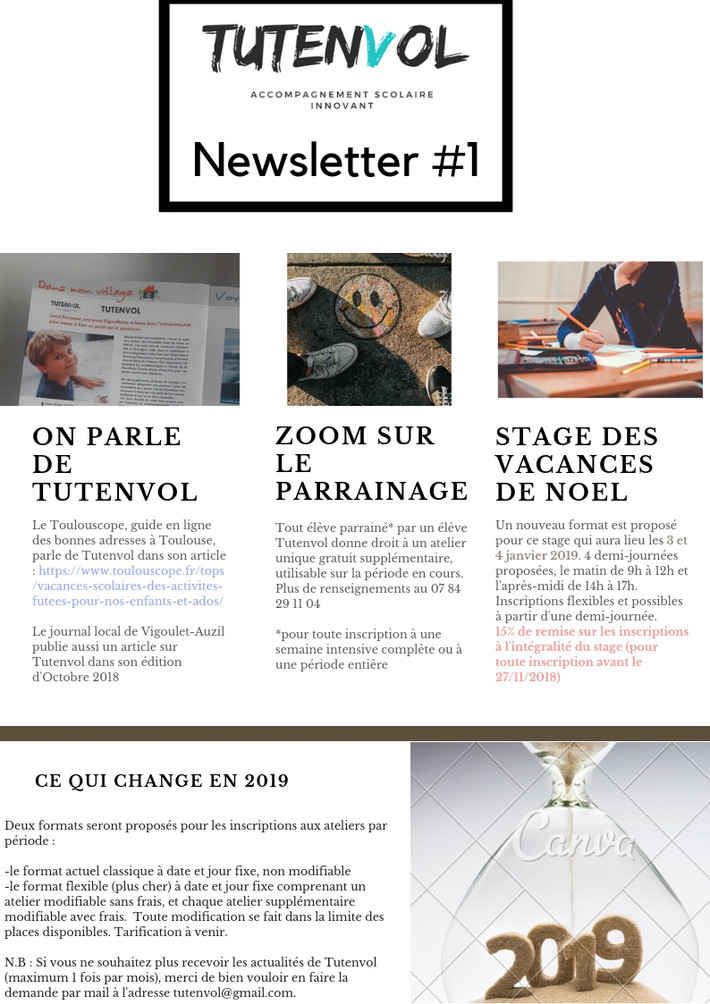 La 1ère Newsletter !