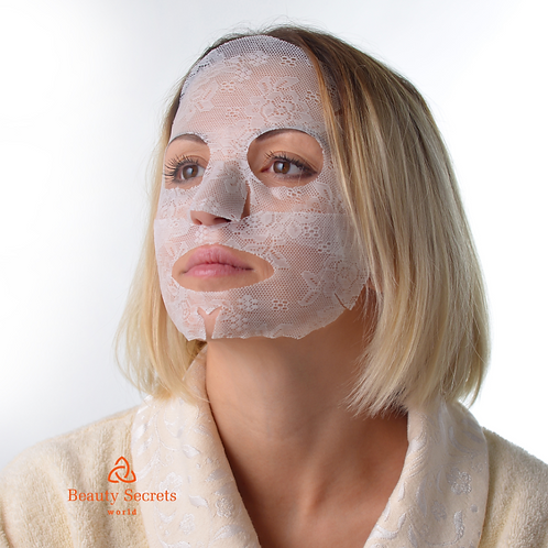 Lace Facial Mask White