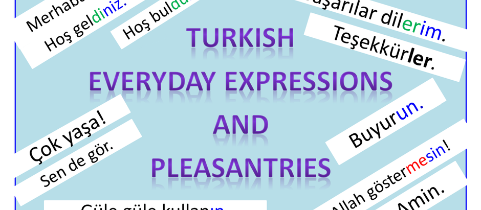 Turkish everyday expressions and pleasantries