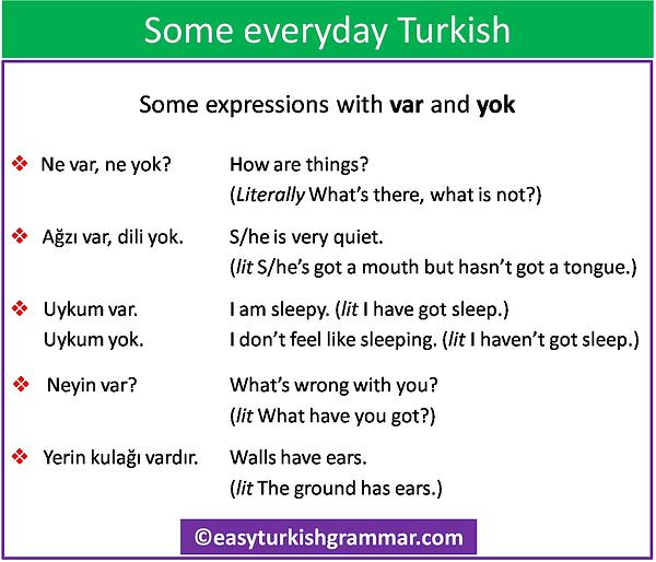 everyday Turkish