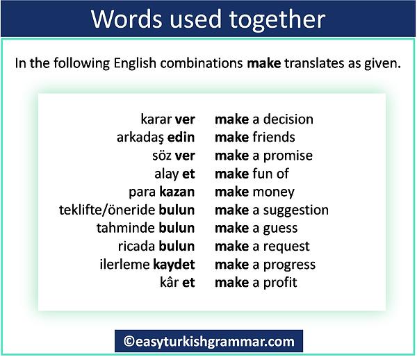 Turkish verbs