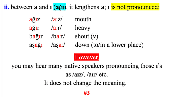 Turkish alphabet with pronunciation