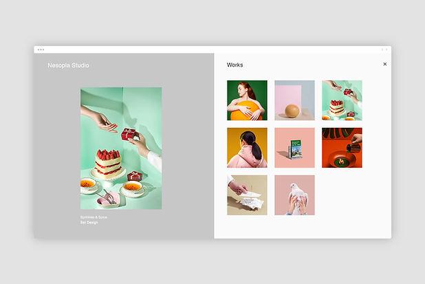 デザインウェブページ