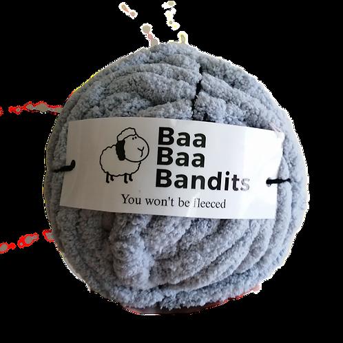 Extra Chunky Blue Chenille Baa Baa Yarn