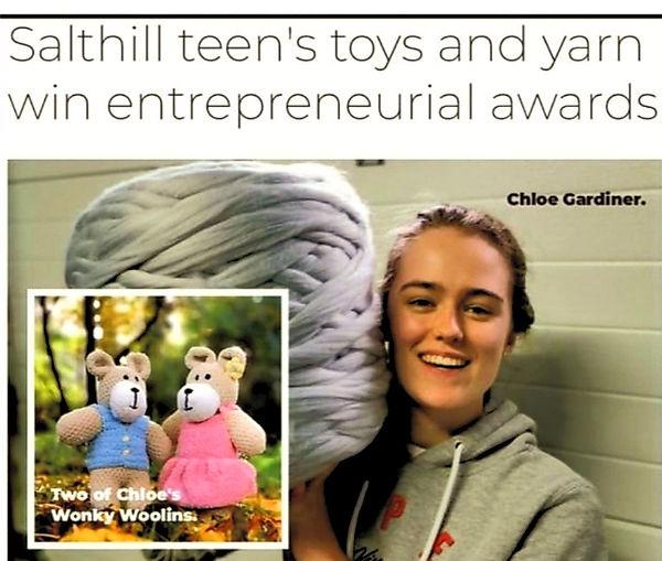 Chloe Gardiner The Wonky Woolins Handmade Soft Toy Business