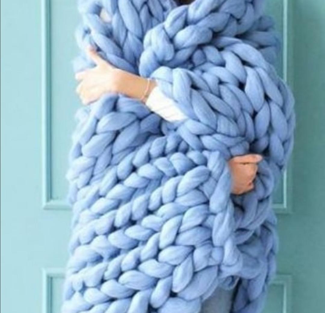 Baa Baa Bandits Chunky Knit Blanket