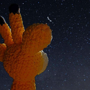 Handmade giraffe cuddly toy