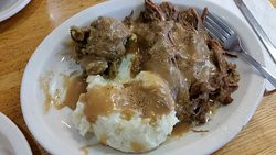 Pot Roast and homeade mashed potatoes