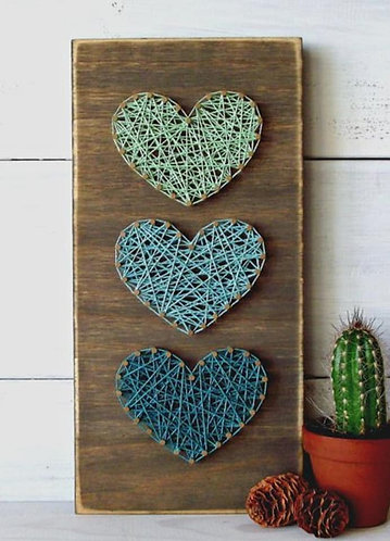 Set of Hearts String Art Kit