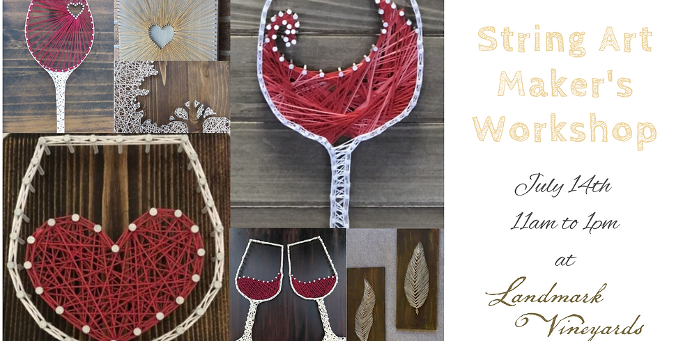 String Art Workshop at Landmark Vineyards