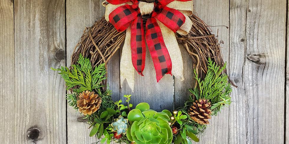 Holiday Succulent Wreath Workshop