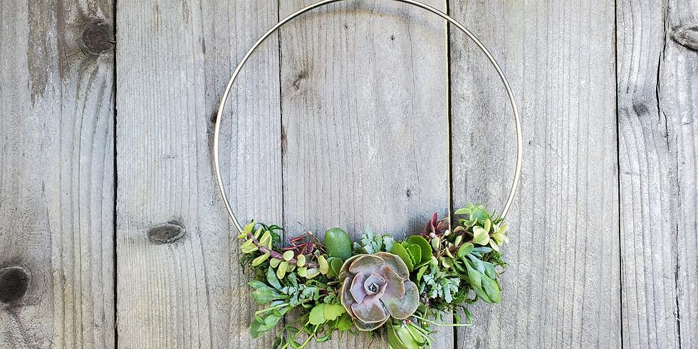 Sip+Craft VIRTUAL Succulent Wreath Workshop