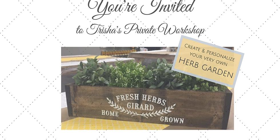 Sip & Craft Workshop - Herb Gardens
