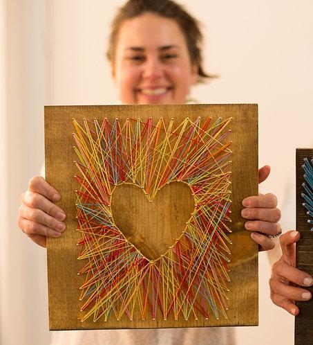 Heart Silhouette String Art Kit