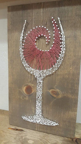 Wine Swirl String Art Kit