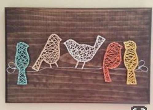 Perched Birds String Art Kit